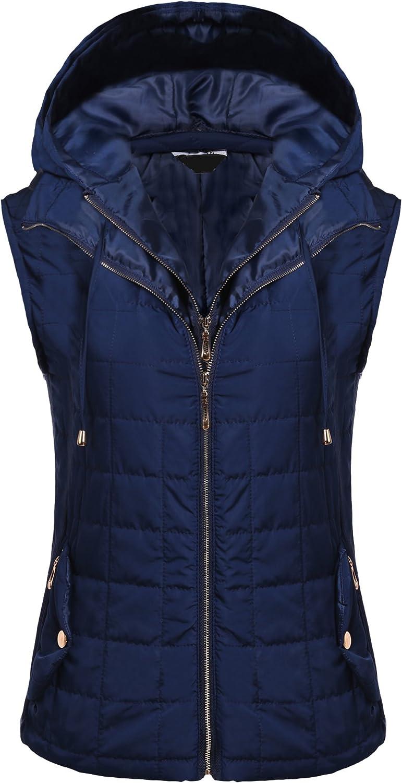 Beyove Women Lightweight Outdoor Quilted Hoodie Down Jacket Vest