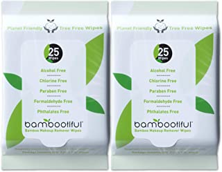 Bambootiful Bamboo Makeup Remover Wipes, 50 Pack, Eco Friendly Face Wipes for Sensitive Skin | Alcohol Free and Paraben Free