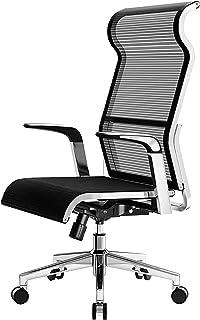 Silla de oficina con respaldo alto, silla de escritorio ergonómica de malla, silla de escritorio giratoria de altura ajustable, con reposabrazos para ejecutivos, conferencias y oficinas en el hogar