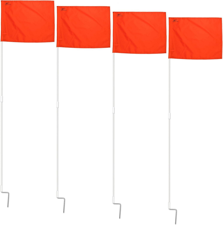SEAL limited Max 43% OFF product AGORA Portable Fiberglass Corner Flags Set 4 of -
