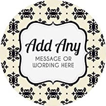 Handmade Retro Style Custom Personalised Sticker Labels Wax Melt Party Favor Sweet Cone Candle Oil 3.5 CM x 35 // 1, A4 Sheet