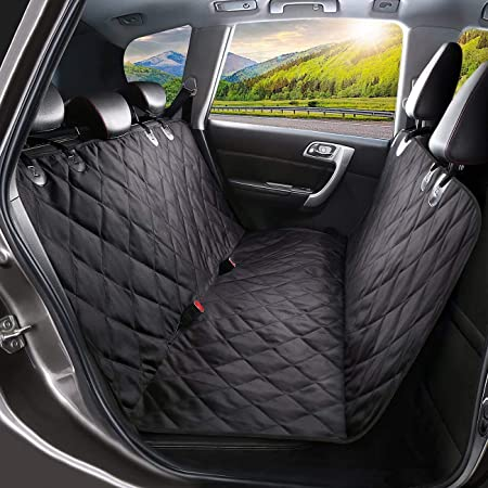 Pawsome Dog Car Seat Cover, Waterproof & Scratch Proof & Nonslip (Black)