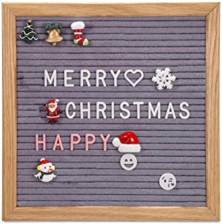 Felt Letter Board DIY Changeable Message Board Quote Display Board with 460 White & Pink Coloured Letters Numbers Symbols Emojis for Home,Kitchen,Restaurant,Party,Wedding