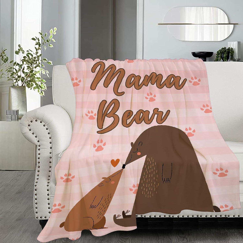Anantacaritra Mama Bear Flannel Ranking TOP19 Throw Microfiber Soft Blanket Max 88% OFF Li
