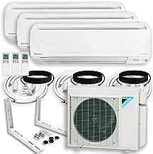 DAIKIN (3 Zone 4MXS Air Conditioner Heat Pump + Maxwell 15 ft. Installation Kit + Wall Bracket (9000 + 15000 + 18000 BTU)