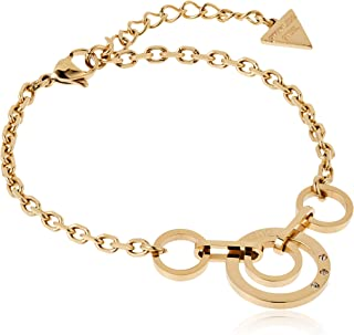 Guess Womens Stainless Steel Fashion Bracelet - UBB29028-L, Color Gold, Size L