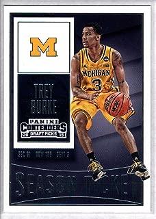 2015-16 Contenders Draft Picks Season Ticket Basketball #92 Trey Burke Michigan Wolverines Official NCAA Trading Card made by Panini
