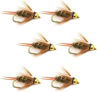The Fly Fishing Place Bead Head Prince Nymph Fly Fishing Flies - Set of 6 Flies Hook Size 16