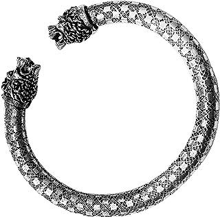 AyA Fashion Oxidised German Silver Cuff Kada Bracelet for Women