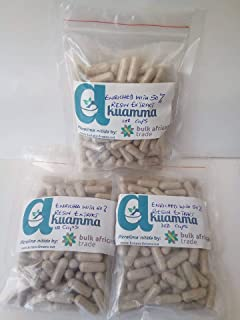 Akuamma (Picralima nitida) Seed Capsules 650mg/cap enriched with 50% Resin Extract (400)