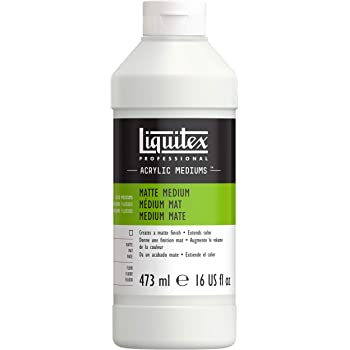 Liquitex 5116 Matte Medium Bottle, 16 oz, Multicolor, 16 Fl Oz