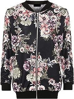Rimi Hanger Ladies Floral Print Zip Up Bomber Jacket Womens Plus Size Winter Wear Fancy Top AU 14-28