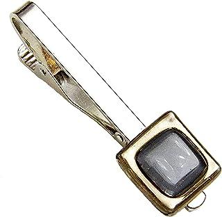 Krawattenklammer • Grau • Krawattennadel • Tschechisches Glas mit Platin überzogen • Handgefertigt