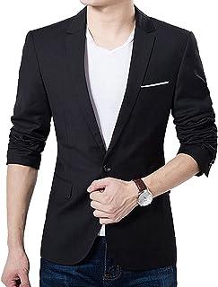 [ビンインボックス] テーラードジャケット メンズ 1Bデザイン スーツ生地 お洒落 M?5XL