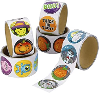Kicko Halloween Sticker Roll for Kids - 500 Pcs Assorted Spooky Sheets - Party Favors, Game Prizes, Novelty Toys, Wall Dec...