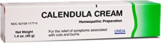 UNDA - Calendula Cream - Homeopathic Remedy for The Temporary Relief of Symptoms Associated with Minor Cuts and Burns* - 1.4 oz. (40 g)