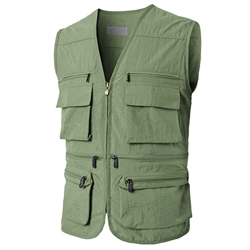 17c1e43e25d20 H2H Mens Casual Work Utility Hunting Travels Sports Vest with Multiple  Pockets