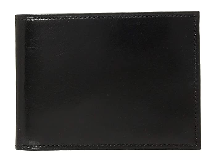 Bosca  Old Leather Collection - Credit Wallet with ID Passcase (Black Leather) Bi-fold Wallet