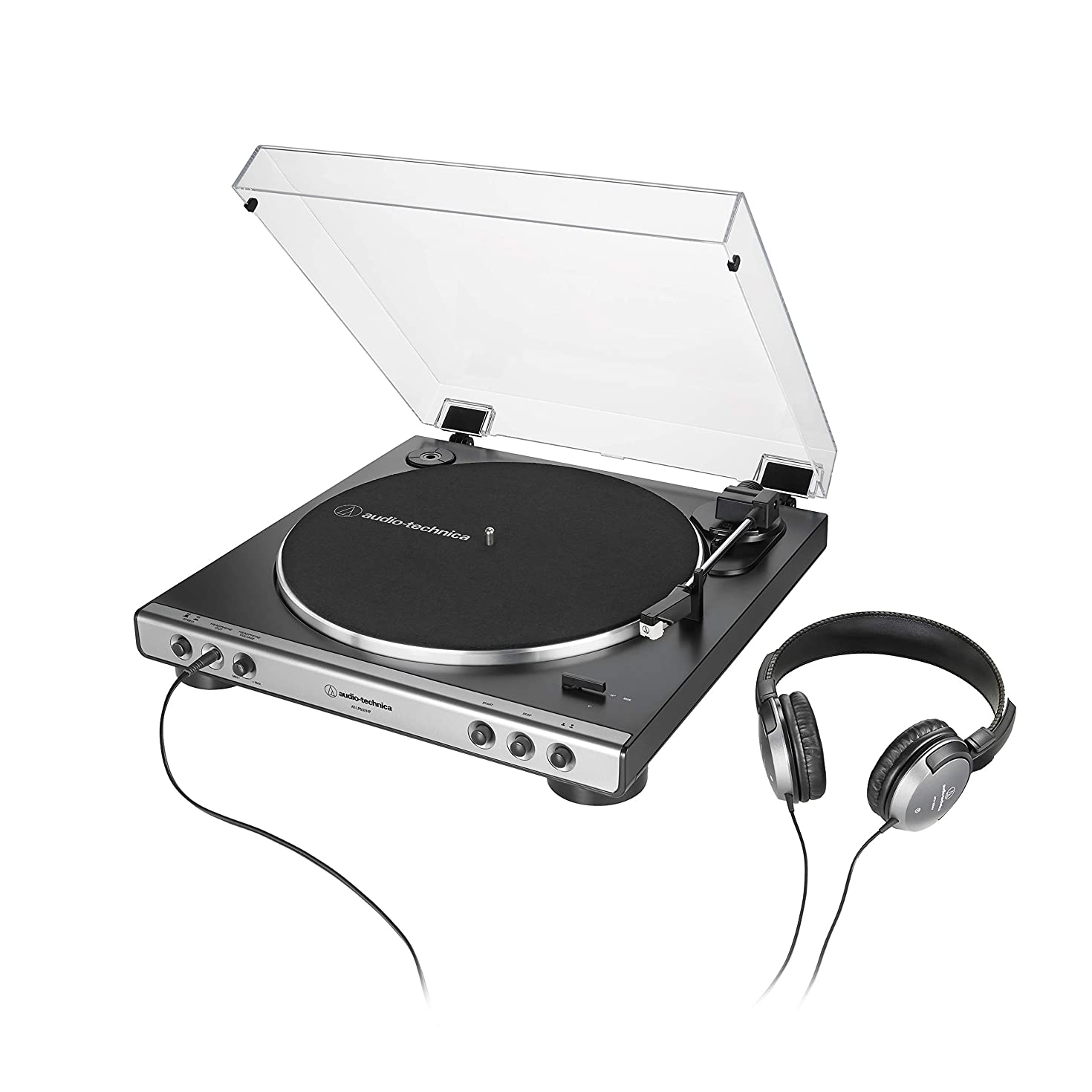 Audio-Technica AT-LP60XHP Fully Automatic Belt-Drive Stereo Turntable with Headphones
