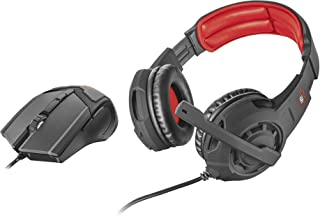 Trust Gaming GXT 784 - Pack de auriculares y Mouse gaming, negro