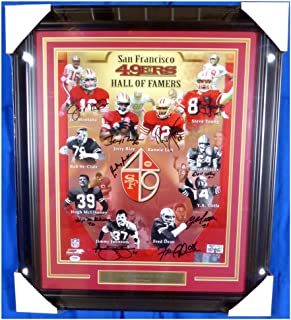 San Francisco 49ers Hall of Famers Autographed Signed Framed 16x20 Photo With 10 Signatures Including Joe Montana, Jerry Rice & Steve Young - PSA/DNA Authentic