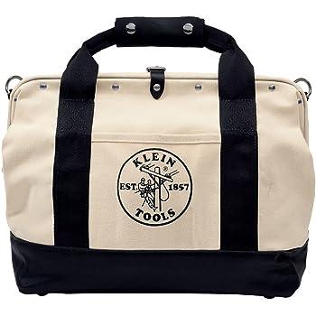 クラインツールキャンバスツールバッグ5003–1818インチポケットwithレザーBottom