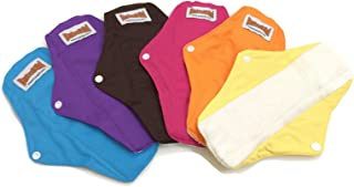 12 BubuBibi Maxi Night Organic Bamboo Mama Cloths Menstrual Reusable Sanitary Liner Pads (Mixture)