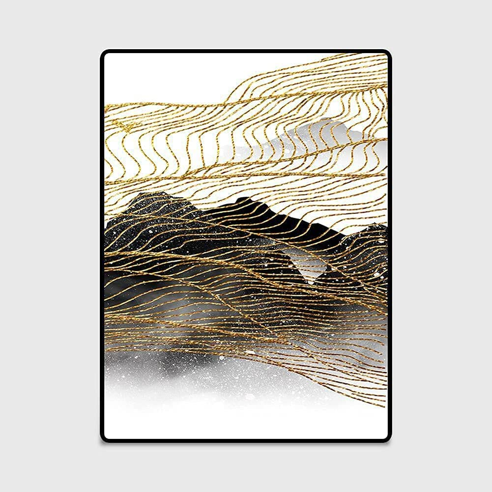 Some reservation LBMTFFFFFF Carpet Rug Rugs Golden Ink Abstract Spasm price Yello