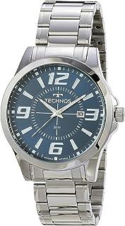 Relógio Technos, Pulseira de Aço Inoxidável, Masculino Prata 2115KZZS/1A