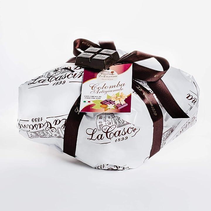 Colomba pasquale al cioccolato - la cascina  - artigianale farcita con crema di cioccolato 1kg B085VL6D5Q