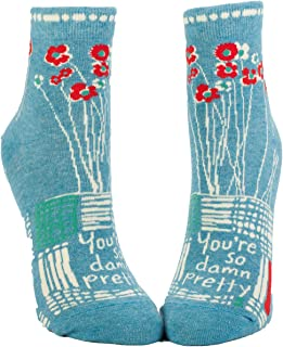 Blue Q Women's Novelty Ankle Socks - (Womens Size 5-10)