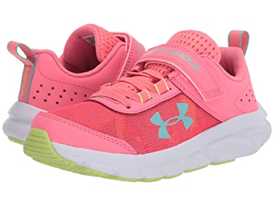 Under Armour Kids UA Assert 8 AC (Little Kid) (Electric Pink/White/Radial/Turquoise) Girls Shoes