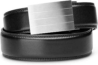 """KORE Men's Full-Grain Leather Track Belts   """"Evolve"""" Stainless Steel Buckle"""