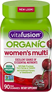 Vitafusion Organic Womens Gummy Multivitamin, 90 Count - Non-GMO, Gluten-Free, No Gelatin, No HFCS