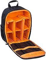حقيبة كاميرا مقاومة للماء، حقيبة ظهر مضادة للصدمات، لكاميرات دي اس ال ار، حقيبة كاميرا المشي لمسافات طويلة، لون برتقالي