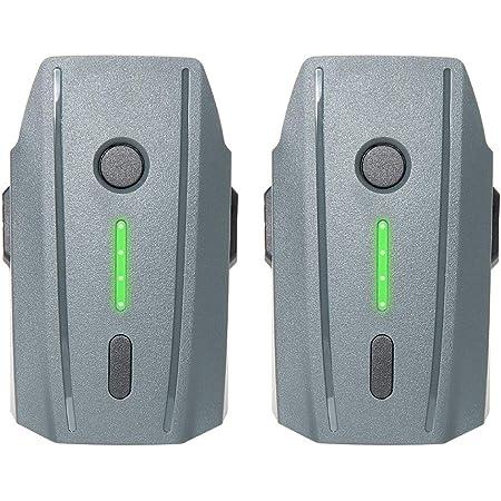 Mavic Pro バッテリー 3830mAh DJIドローン互換バッテリー フライトバッテリー インテリジェントフライトバッテリー DJI Mavic Pro & Platinum & Alpine White Dronesに対応 グレー(2個セット)