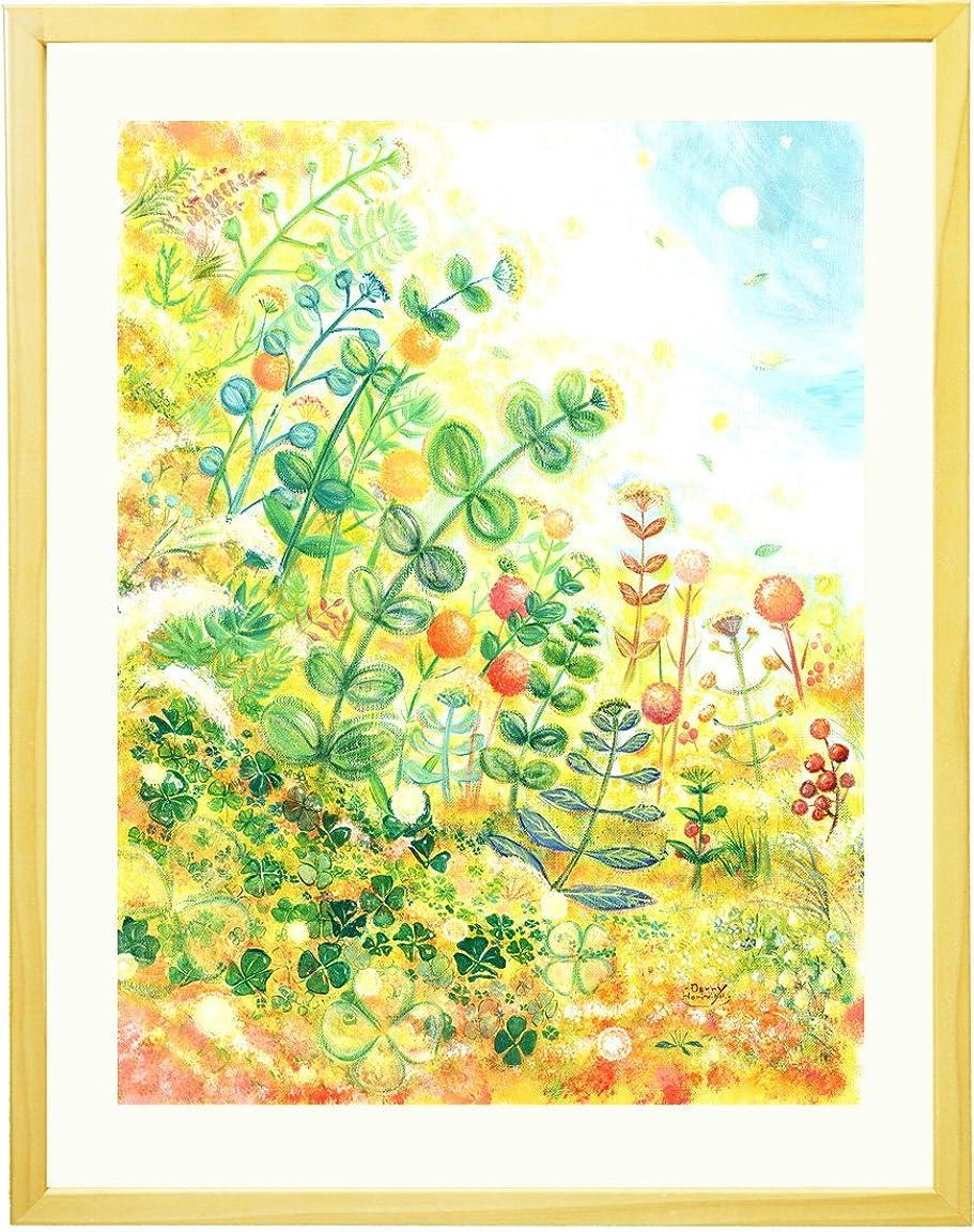 スイングどこにもチチカカ湖絵画 インテリア グリーン 「grow」 額入り(ミニ) 観葉植物 卓上 壁掛け ナチュラル キッチン 北欧 雑貨 人気ランキング