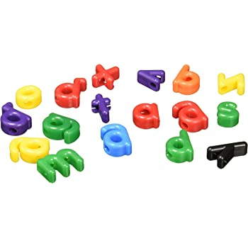 Roylco Lowercase Letter Bead, Assorted Colors, Pack of 288