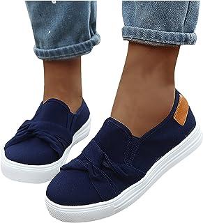 Sneaker Low-Top Dames Slipper lage schoenen sportief met Bowknot Slip On Walking Outdoor Gym Comfortabele lichte vrijetijd...