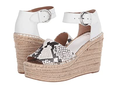 Marc Fisher LTD Alida Espadrille Wedge (White Multi Leather) Women