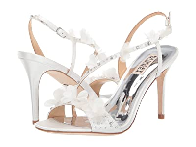 Badgley Mischka Irene (Soft White Satin) High Heels