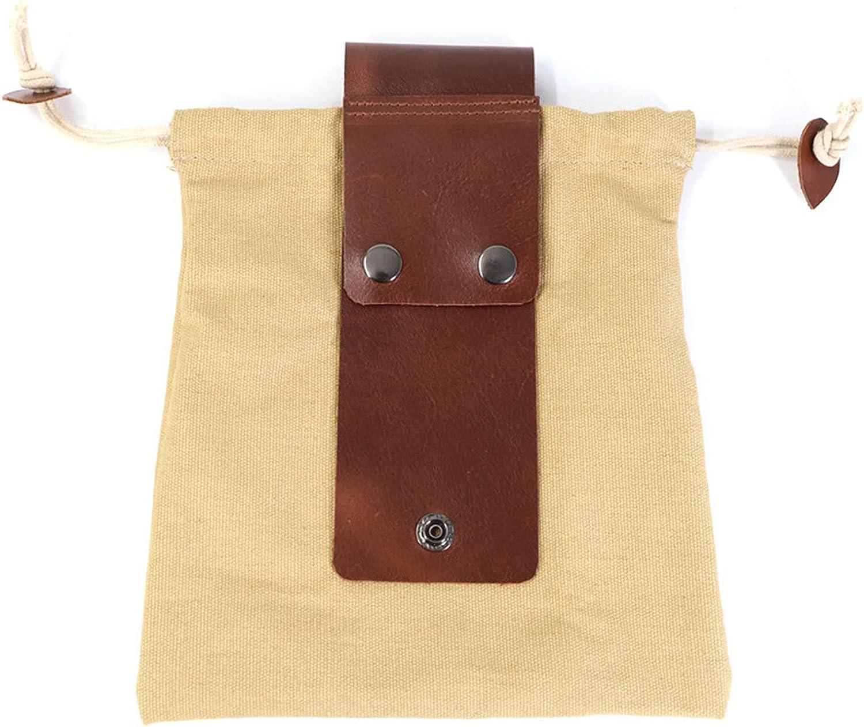 Bolsa de lona encerada para exteriores, para colgar en la cintura, para senderismo, arbustos, manualidades, bolsa extra para cinturón, bolsillo para exteriores, camping