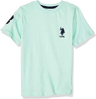 Boys' Short Sleeve V-Neck Solid T-Shirt