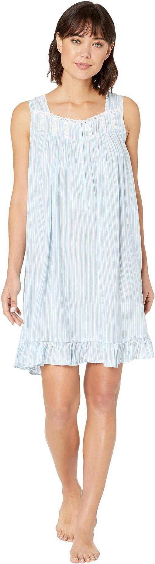 White/Peri/Aqua Yarn-Dye Stripe