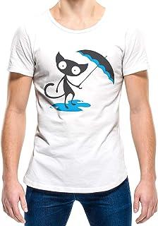 Upteetude Cat In Rain Unisex T-Shirt