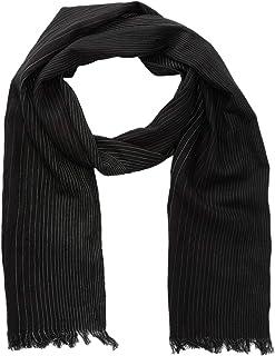John Varvatos Men's Ombre Pinstripe Silk Fashion Fringe Scarf