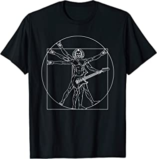 Vitruvian Man Guitar Music Player Da Vinci Guitarist Rocker T-Shirt