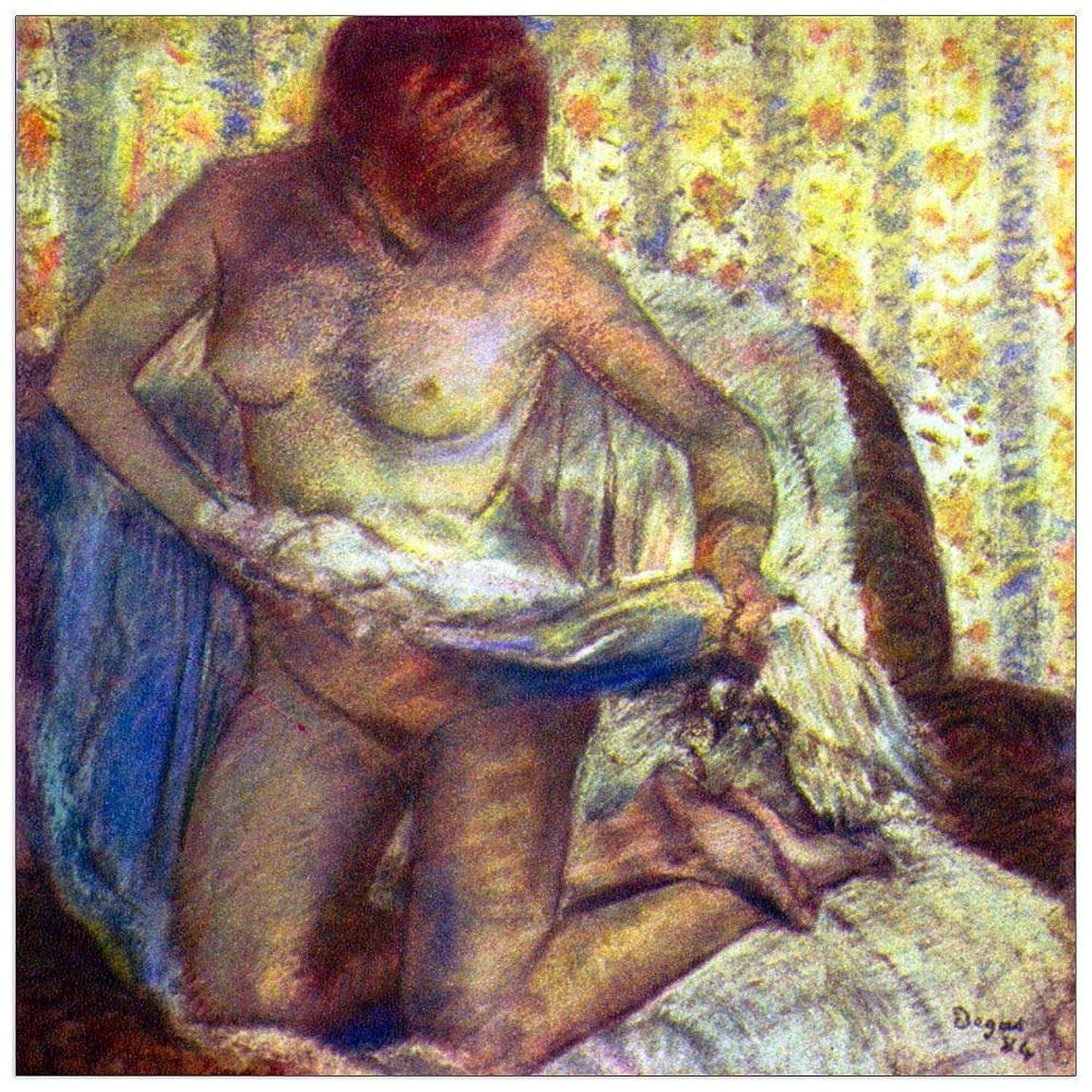 ArtPlaza TW93078 Degas Edgar - Nude Woman Decorative Panel 31.5x31.5