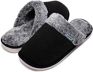 a240894aa9 Pantofole Scamosciate da Donna Interne Casa Morbida Autunno Inverno Memoria  Schiuma Pavimento Indoor Outdoor