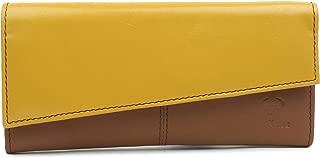 AlphaHide Genuine Leather Women Wallet - Ladies Clutch - Zipper Pocket - Multi Coloured -RFID